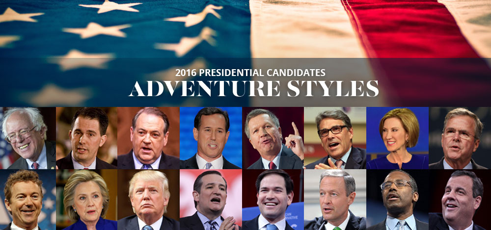 2016 Presidential Candidates' Adventure Styles