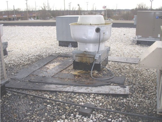 Cook Roof Mounted Exhaust Fan : Rooftop grease containment system