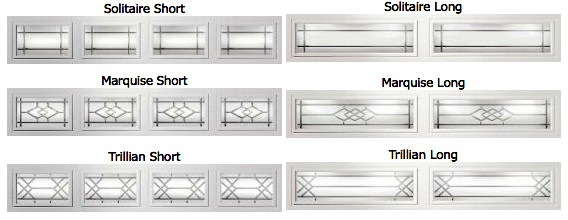 garage door window insertsWindow Options