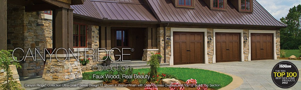 Faux wood canyon ridge garage door san diego by radord for Clopay canyon ridge ultra grain price