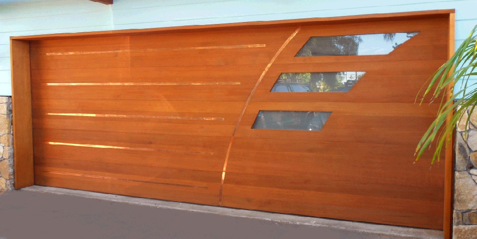 custom wood_glass garage door